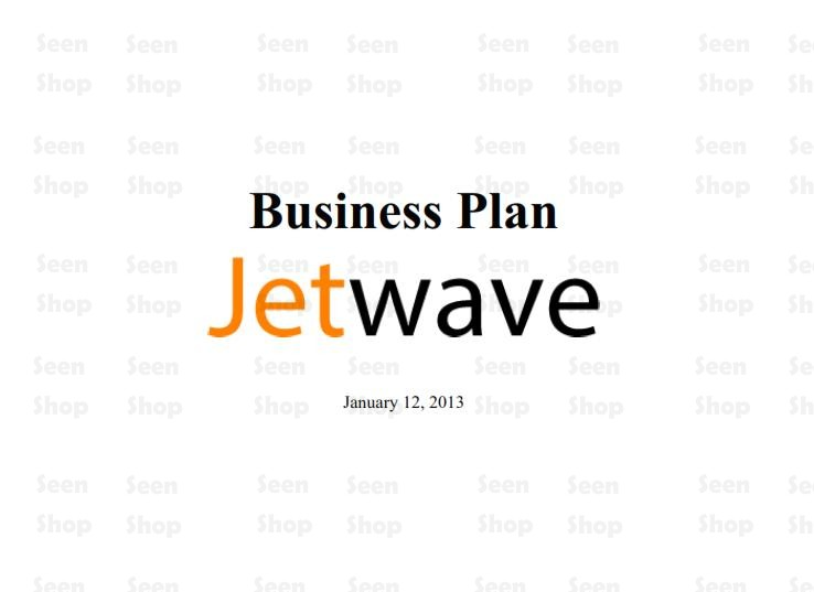 Major Components of a Typical Startup-Airline Business Plan