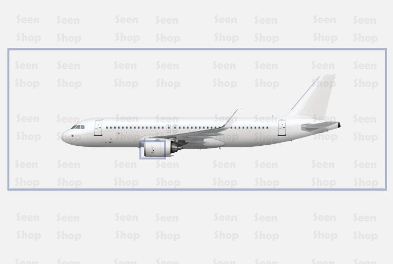 Airbus A320 Neo aircraft livery template